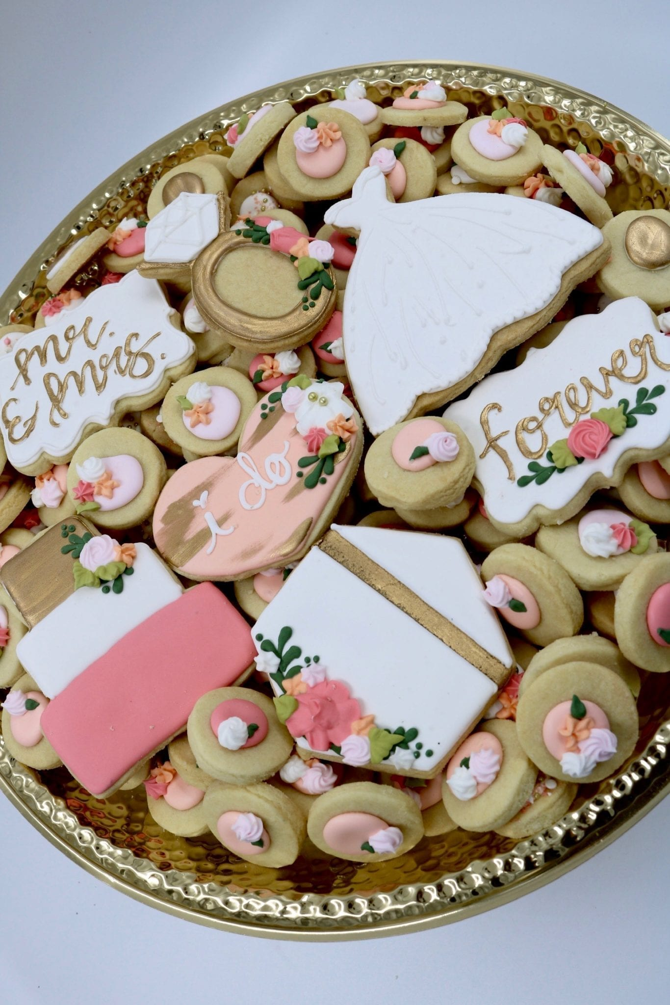 Wedding Shower Teas Cookies | 3 Sweet Girls Cakery