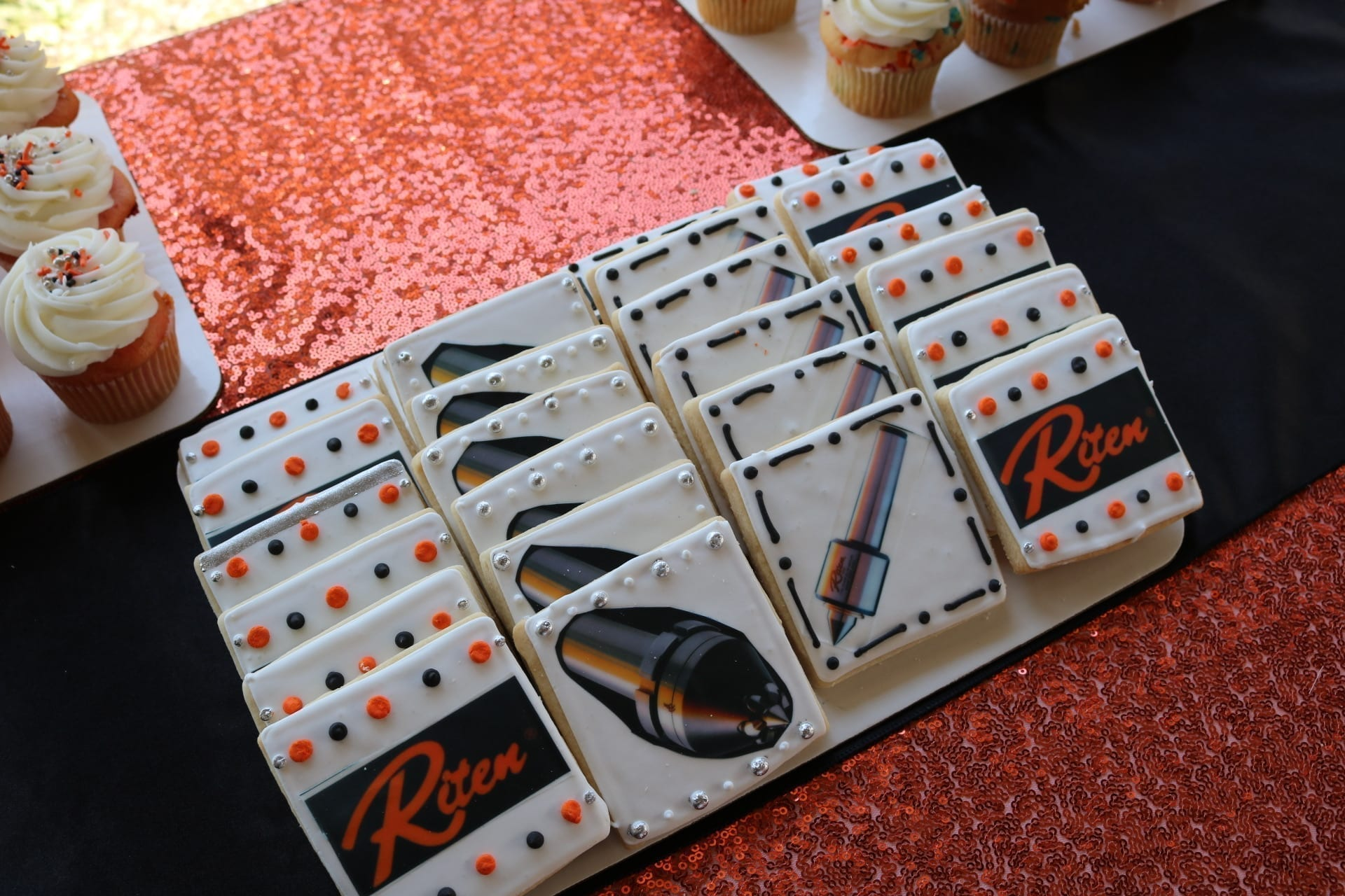 Corporate Logo Cookies for Riten | 3 Sweet Girls Cakery