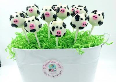 Cow Cake Pops | 3 Sweet Girls Cakery