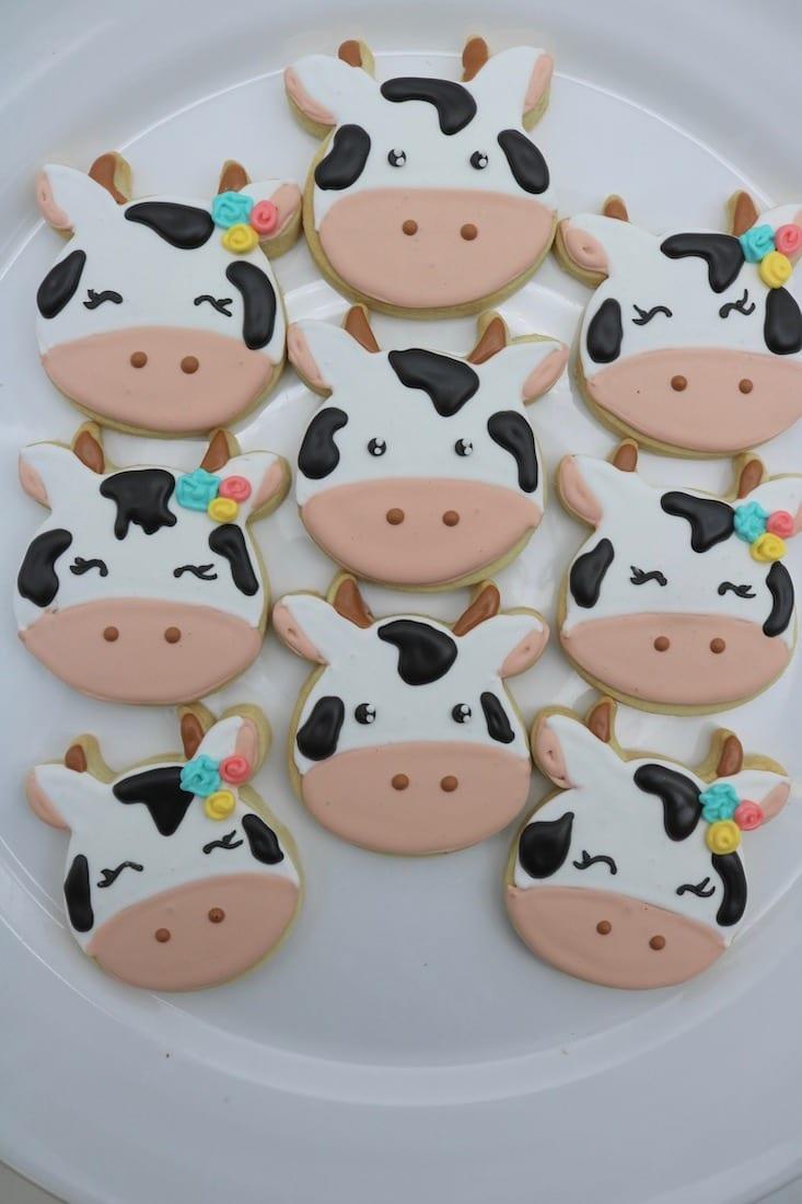 Cow Cookies | 3 Sweet Girls Cakery