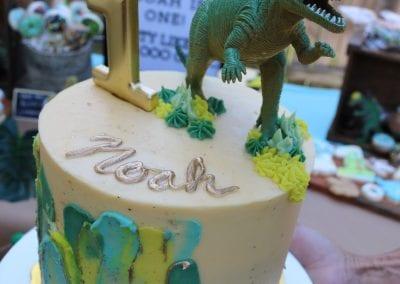 Dinosaur First Birthday Cake | 3 Sweet Girls Cakery