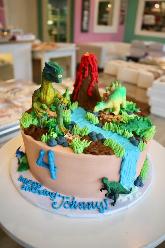 Dinosaur and Volcano Cake | 3 Sweet Girls Cakery