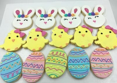 Easter Bunny, Easter Chick and Easter Egg Cookies | 3 Sweet Girls Cakery