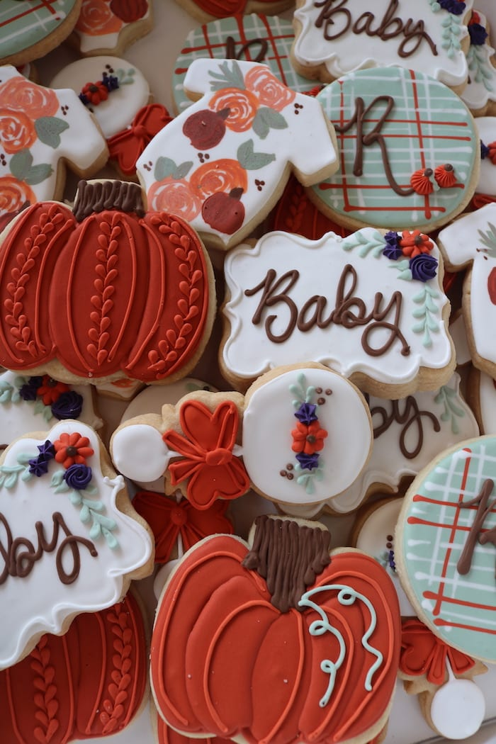 Fall Baby Shower Cookies | 3 Sweet Girls Cakery