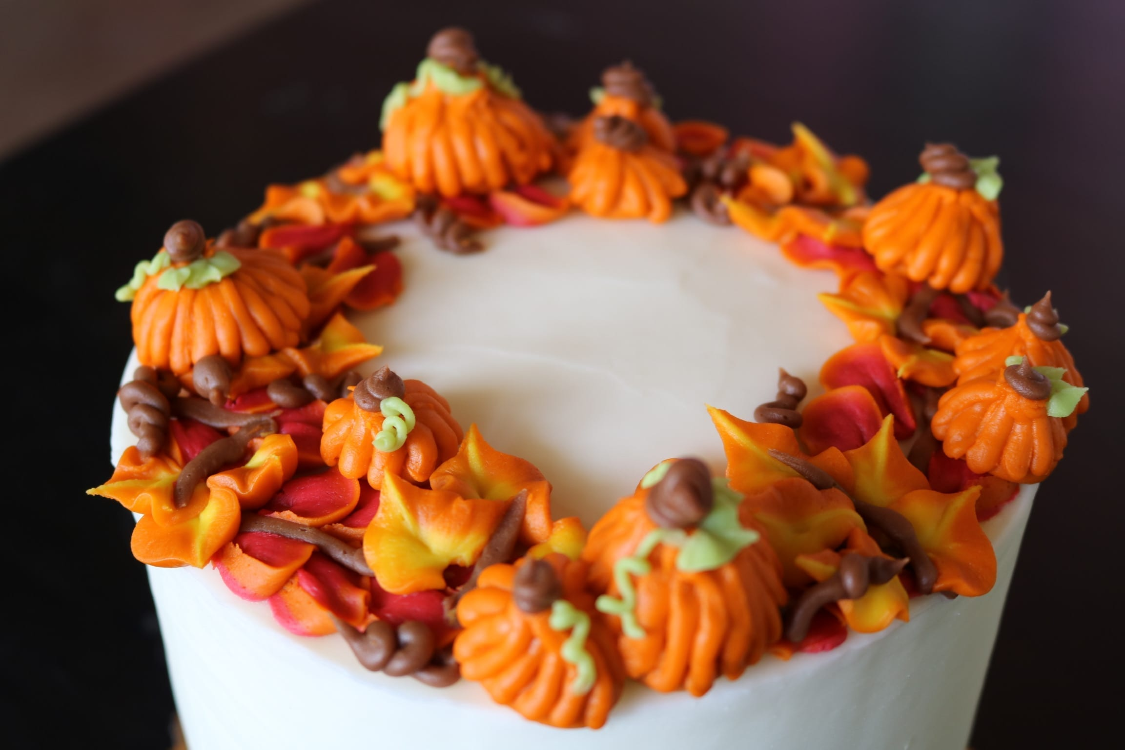 Fall Pumpkin Thanksgiving Cake | 3 Sweet Girls Cakery