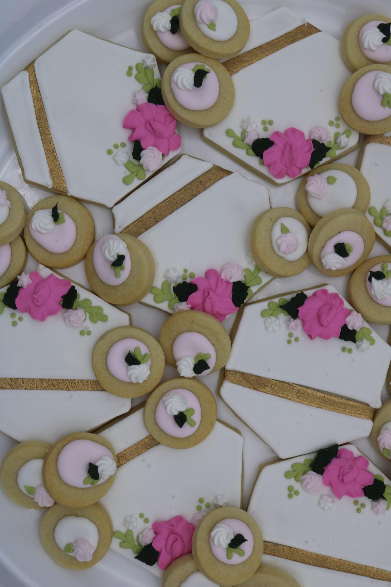 Fault Line Gold Geometric Cookies | 3 Sweet Girls Cakery