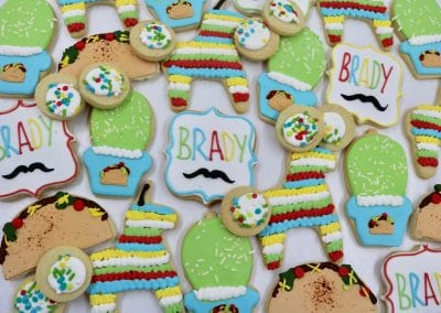 Fiesta Baby Shower Cookies for Little Man | 3 Sweet Girls Cakery