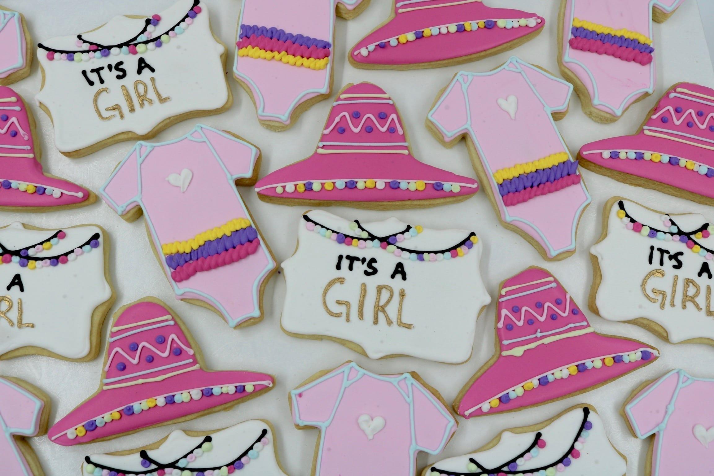 Fiesta Girls Baby Shower Cookies  3 Sweet Girls Cakery