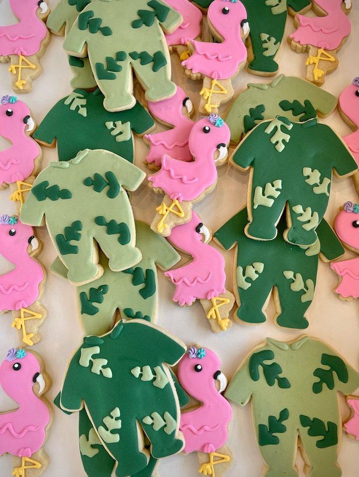 Flamingo Baby Shower Cookies   3 Sweet Girls Cakery