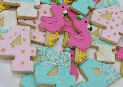 Flamingo Birthday Cookies | 3 Sweet Girls Cakery