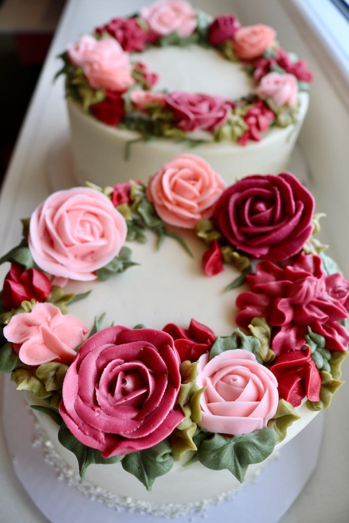 Floral Anniversary Cake | 3 Sweet Girls Cakery
