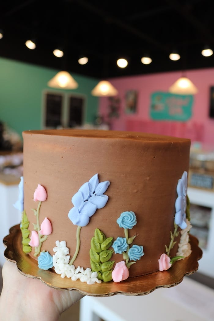 Floral Chocolate Cake | 3 Sweet Girls Cakery