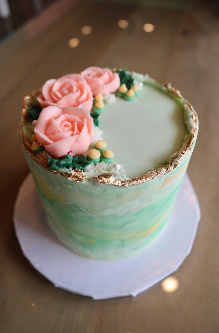 Floral Mini Cake | 3 Sweet Girls Cakery