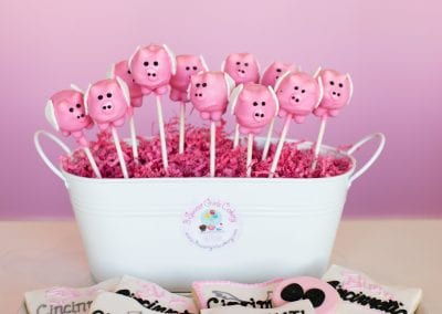 Flying Pig Cake Pops, Flying Pig Marathon Ohio Cookies and Pig Snout Cookies | 3 Sweet Girls Cakery
