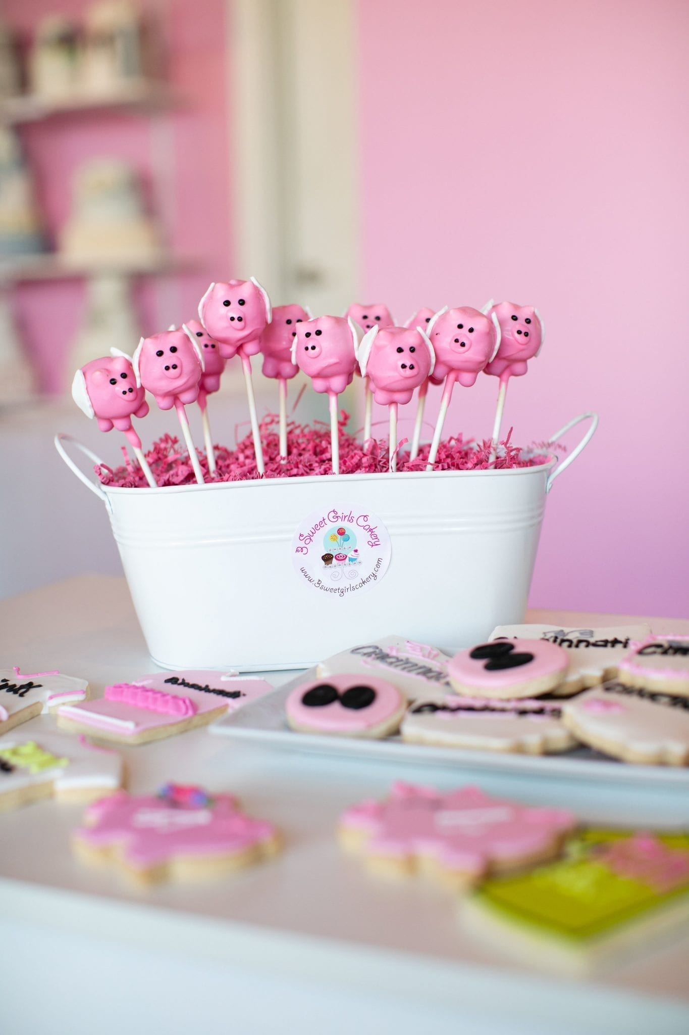 Flying Pig Cake Pops And Cookies