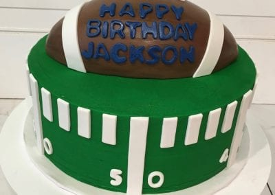 Football Cake | 3 Sweet Girls Cakery