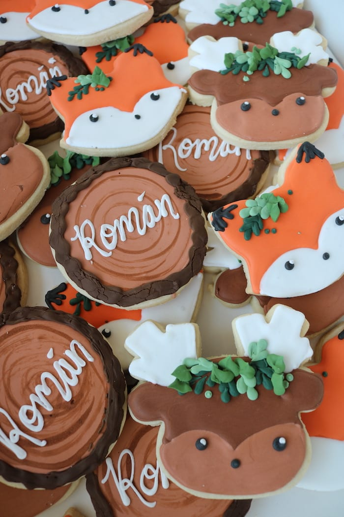 Fox, Deer and Tree Stump Cookies | 3 Sweet Girls Cakery