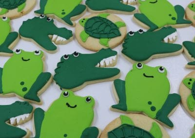 Frog, Alligator and Sea Turtle Cookies | 3 Sweet Girls Cakery