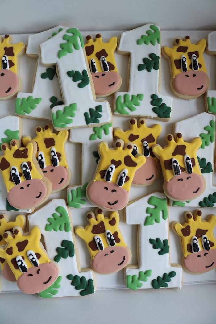 Giraffe Safari Cookies | 3 Sweet Girls Cakery