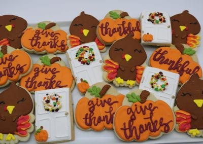 Give Thanks Cookies | 3 Sweet Girls Cakery