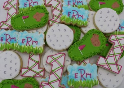 Golf Cookies For Girls Birthday | 3 Sweet Girls Cakery