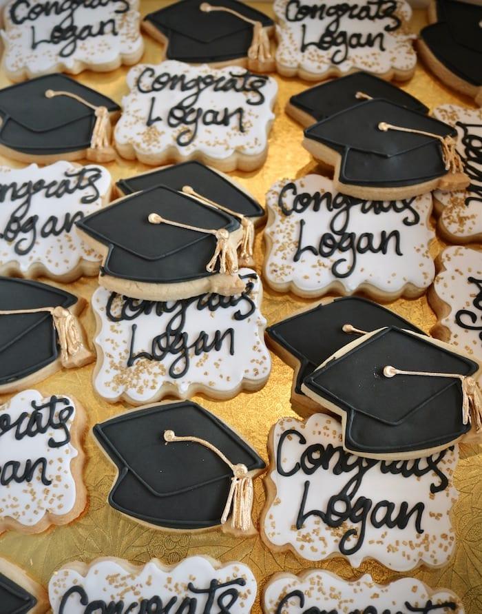 Graduation Cap and Congrats Cookies | 3 Sweet Girls Cakery