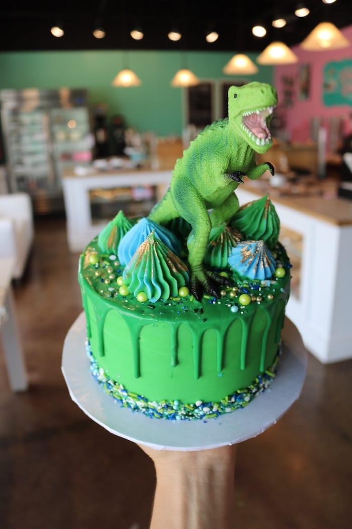Green Dinosaur Birthday Cake | 3 Sweet Girls Cakery