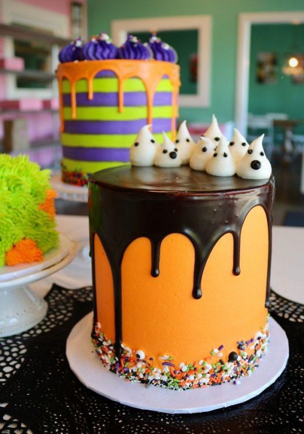 Halloween Drip Cake | 3 Sweet Girls Cakery