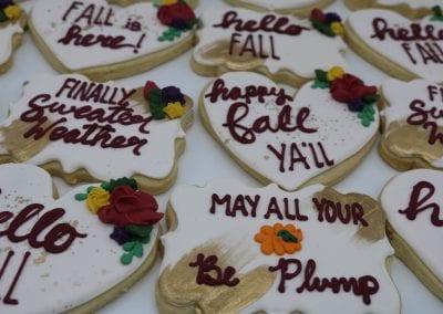 Happy Fall Ya'll Cookies | 3 Sweet Girls Cakery
