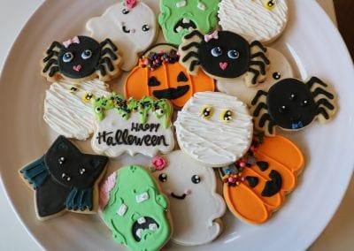 Happy Halloween Cookies   3 Sweet Girls Cakery