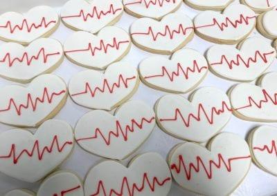 Heart Beat Medical Cookies | 3 Sweet Girls Cakery