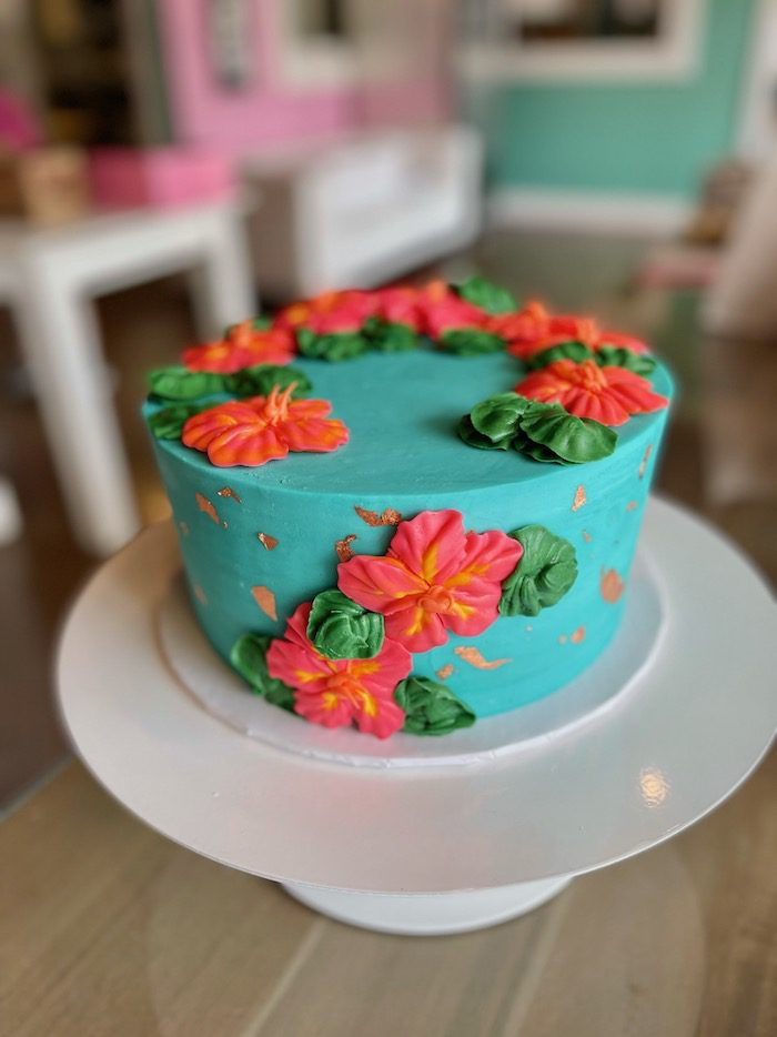 Hibiscus Floral Cake | 3 Sweet Girls Cakery