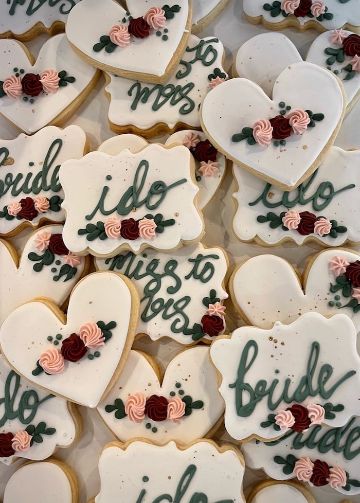 I Do Wedding Shower Cookies | 3 Sweet Girls Cakery