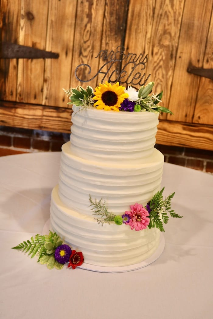 Textured Buttercream Wedding Cake | 3 Sweet Girls Cakery