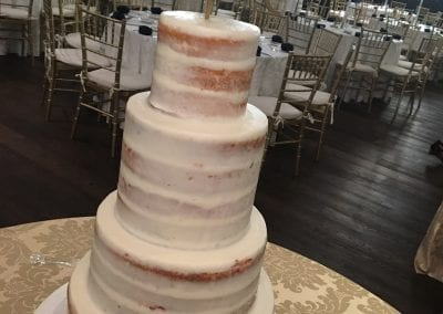 4 Tier Naked Wedding Cake | 3 Sweet Girls Cakery