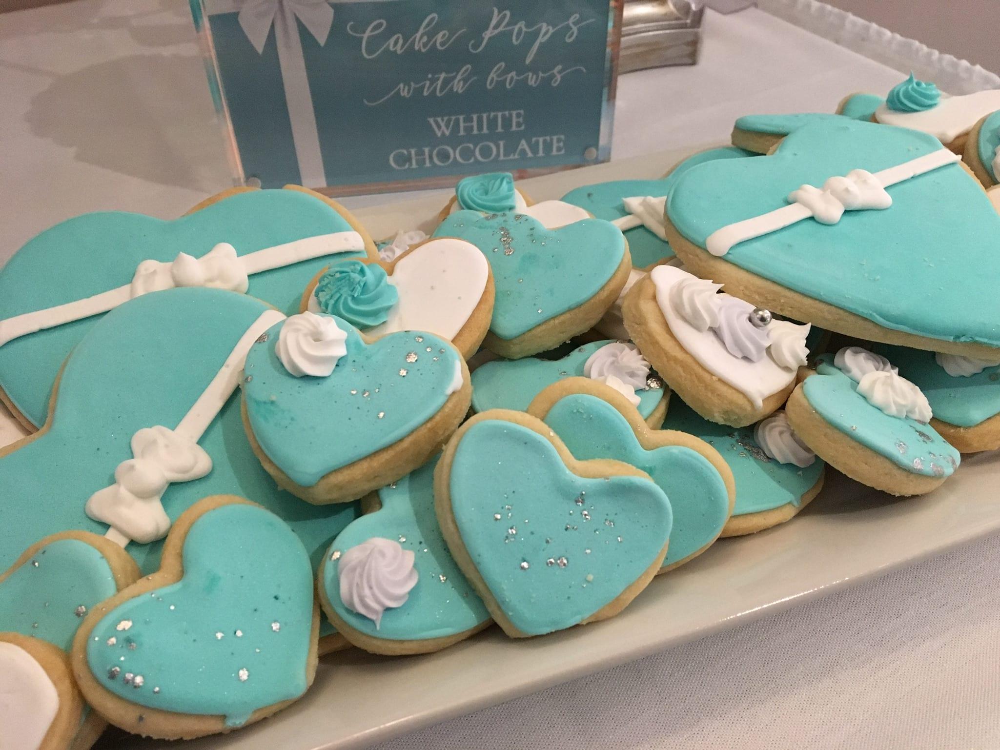 Tiffany Heart Cookies   3 Sweet Girls Cakery
