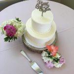 White 2 Tier Wedding Cake Rustic