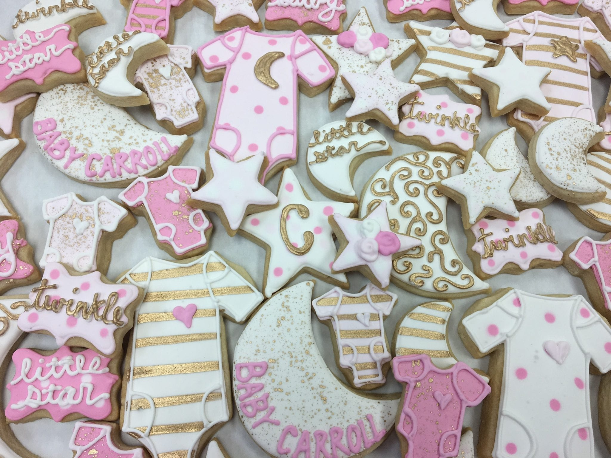 Twinkle Twinkle Little Star Cookies for Baby Shower | 3 Sweet Girls Cakery