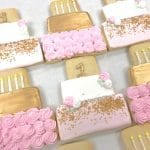 Pink and Gold First Birthday Cake Cookies