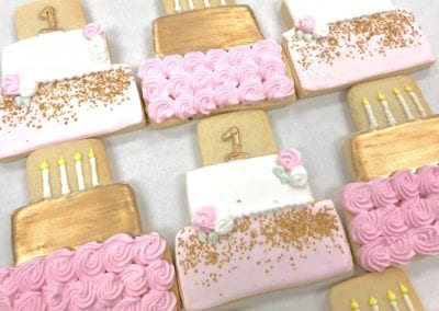 Pink and Gold First Birthday Cake | 3 Sweet Girls Cakery