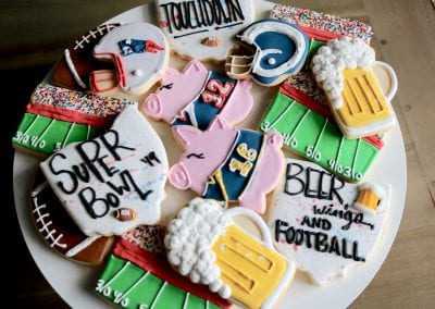 Super Bowl Cookies | 3 Sweet Girls Cakery
