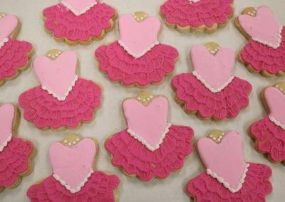 Pink Ballerina Tutu Cookies | 3 Sweet Girls Cakery