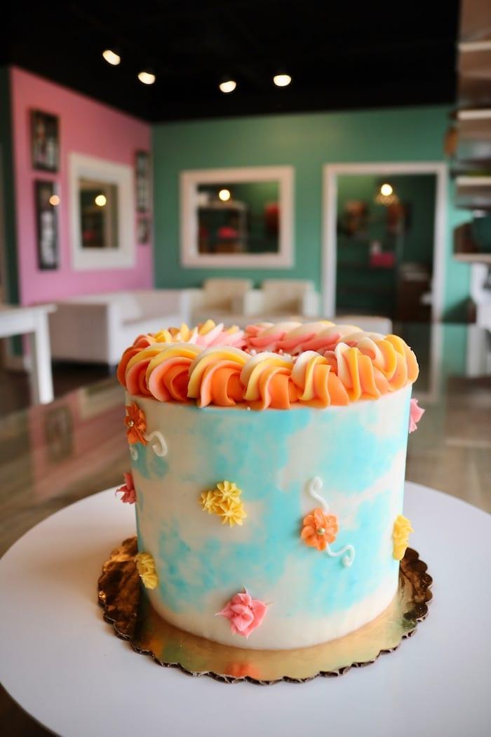 Bright Spring Celebration Cake   3 Sweet Girls Cakery