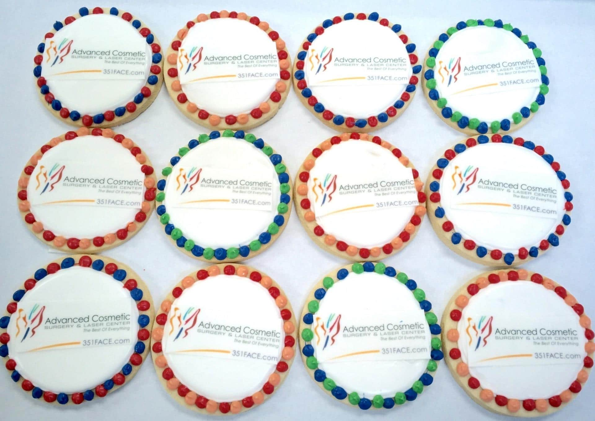 Logo Cookies for Advance Cosmetics
