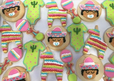 Fiesta Baby Shower Cookies for a Girl | 3 Sweet Girls Cakery