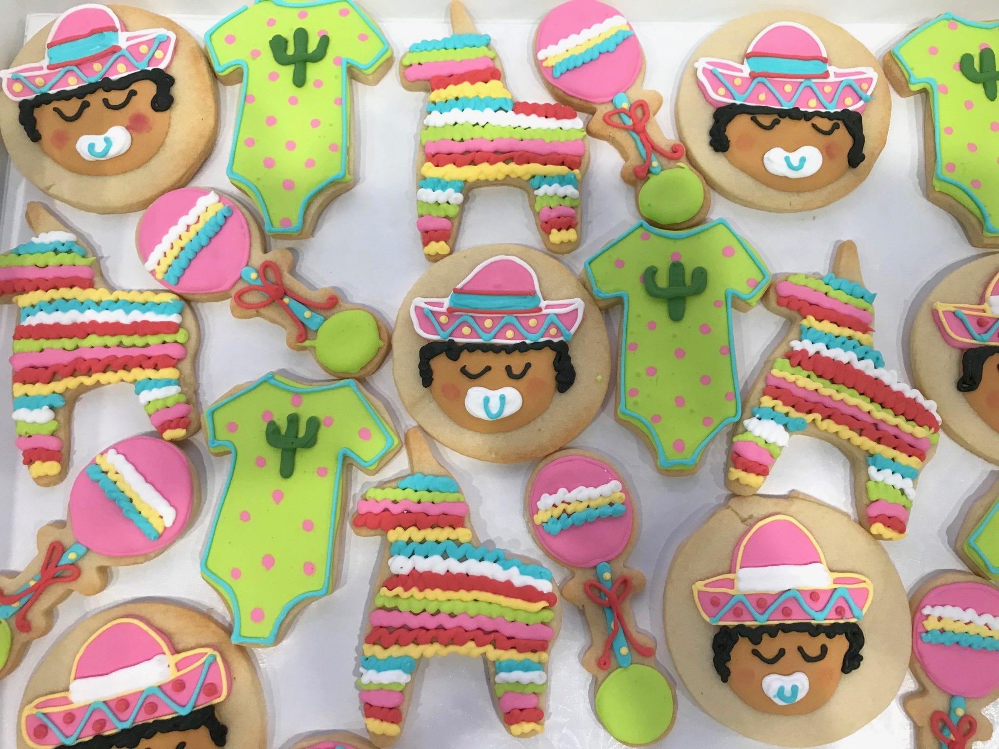 Fiesta Baby Shower Cookies for a Girl | 3 Sweet Girls Caker