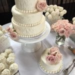 Textured Wedding Cake at The Monestary