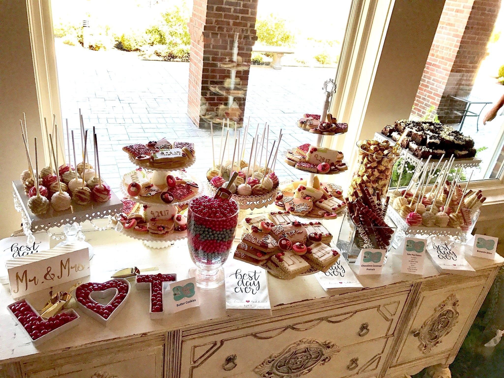 Wedding Dessert Table at Drees Pavillion | 3 Sweet Girls Cakery
