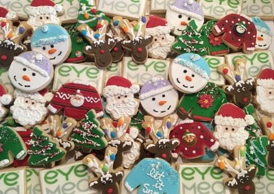 Corporate Holiday Cookies for Eye Med | 3 Sweet Girls Cakery