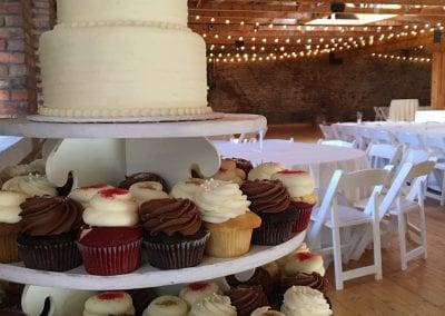 Wedding Cupcake Display at Rhinegeist Brewery | 3 Sweet Girls Cakery
